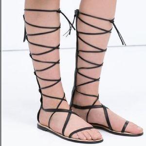 Zara gladiator sandals